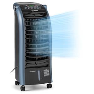Klarstein Maxfresh Ocean Enfriador de aire Ventilador 6 litros 55W mando a distancia acumuladores de frío color azul