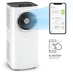 Klarstein Kraftwerk Smart 12K siirrettävä ilmastointilaite 12 000 BTU/3,5 kW valkoinen