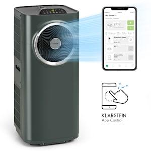 Klarstein Kraftwerk Smart 10K siirrettävä ilmastointilaite 10 000 BTU/2,9 kW antrasiitti