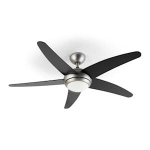 Bolero, 2 v 1 stropni ventilator, 134 cm, lučka, 55 W, daljinski upravljalnik, črn