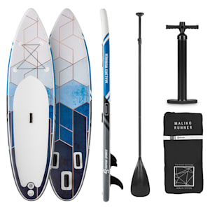 Maliko Runner SUP-Board - Aufblasbares Paddleboard Set 305x10x77 grau/weiß