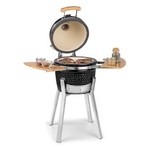 Princesize Pro Kamado grill Ceramic grill Smoker BBQ | Diameter: 13