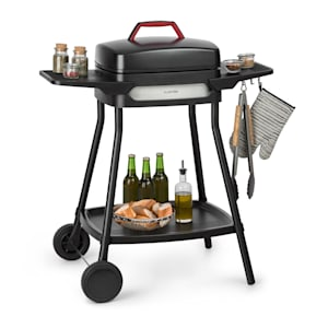 Gatsby elektrische barbecue 2000W anti-aanbaklaag zijtafels zwart