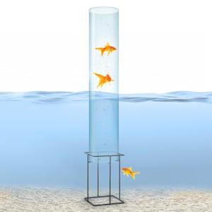 Skydive 100 Torre para peces 100 cm Ø 20 cm cristal acrílico metal transparente