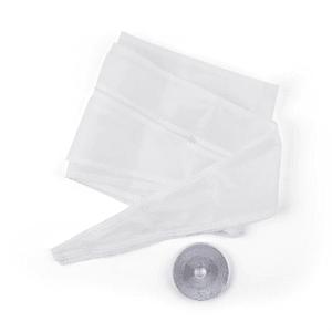 Fensterabdichtungs-Set 3,9 m Reißverschluss Klettband weiß