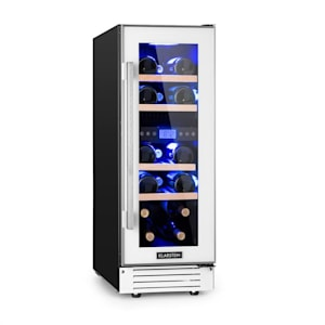Klarstein Vinovilla 17 Two-Zone Wine Cooler 53l 17 Bottles 3-Colour White