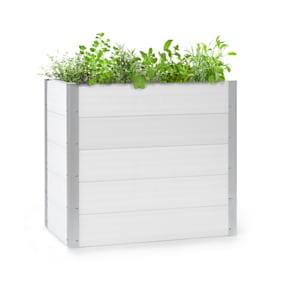 Nova Grow Aiuola da Giardino 100x91x50 cm WPC Effetto Legno bianco