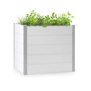 Nova Grow Aiuola da Giardino 100x91x100 cm WPC Effetto Legno bianco
