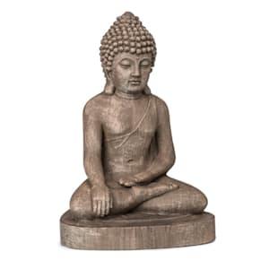 Gautama, kerti szobor, 43 x 61 x 34 cm, fibreclay, barna