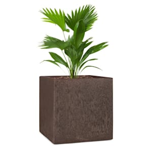 Solid Grow Rust Jardinière 40 x 41 x 40 cm Fibrociment couleur rouille