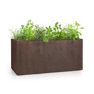 Solid Grow Rust, kvetináč, 80 x 38 x 38 cm, fibreclay, hrdzavá farba