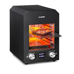 Hannibal, grătar cu temperatură înaltă, interior, 2200 W, 850 °C, oțel inoxidabil, negru