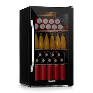 Beersafe XXL Onyx koelkast drankkoelkast | volume: 80 liter | 3 metalen schappen | instelbare interne temperatuur van 5 tot 13 °C | draaiknop | dubbel geïsoleerde glazen deur | vrijstaand | led