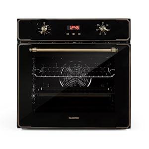 Elizabeth, beépíthető sütő, retro dizájn, 6 funkció, 50 - 250 ° C, fekete
