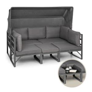Ravenna, sedací souprava, 4ks, variabilní, hliník, antracit