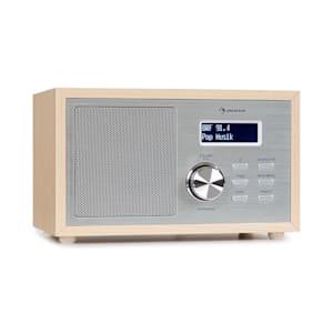 Ambient DAB+/FM Radio BT 5.0 AUX-In LCDisplay Wecker Eieruhr Holzoptik braun