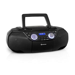Roadie 2K Boombox CD-Player Kassettenradio DAB/DAB+ UKW Bluetooth schwarz