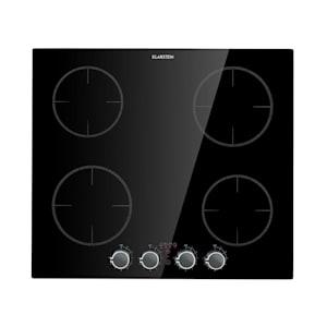 Klarstein Kochheld 4-Zone Induction Hob 6000W Rotary Control Glass Black