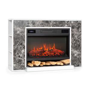 Klarstein Vulsini Nightfall Electric Fireplace 1900 W LED Technology Remote Control grey