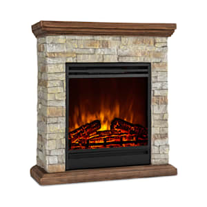Klarstein Etna Electric Fireplace 1800W Weekly Timer Remote Control Grey / Brown