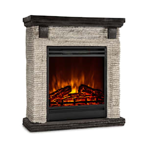 Klarstein Etna Electric Fireplace 1800W Weekly Timer Remote Control Grey / Black