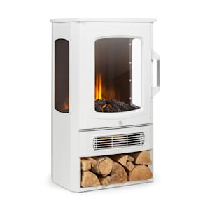 Klarstein Bormio Panorama Electric Fireplace 1000 / 2000W Thermostat White