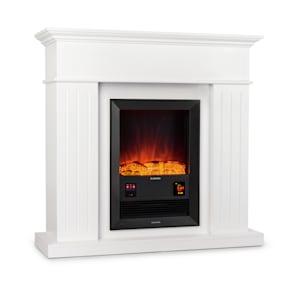 Klarstein Chamonix  cheminée électrique à radiateur soufflant 2000 W minuterie hebdomadaire télécommande blanc
