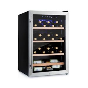 Klarstein Vinamour 48 Uno Weinkühlschrank | Temperaturen: 4-18 °C | Platz für 48 Flaschen Wein | Energieeffizienzklasse B | 42 dB | Touch-Bedienfeld | 3 Regaleinschübe | LED-Innenbeleuchtung | freistehend | Schloss | 2 Schlüssel | Edelstahl