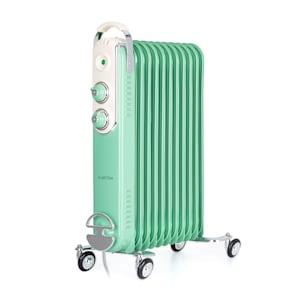 Klarstein Thermaxx Retroheat radiateur à bain d'huile 2500 W roulettes vert