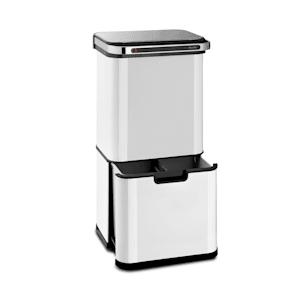 Touchless Ultraclean Sensor-Mülleimer | 60 Liter Volumen in 3 Behältern | Ozon-Sterilisation: beseitigt 90% der Bakterien und Viren | OdorControl: mit integriertem Geruchsfilter | automatisches Öffnen und Schließen | Gehäuse aus Edelstahl