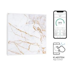 Klarstein Wonderwall Air Art Smart Infrared Heater 60x60cm 350W App Marble I