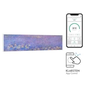 Wonderwall Air Art Smart Infrarotheizung 120x30cm 350W Wandinstallation  App-Steuerung Seerosen