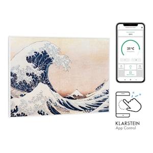 Klarstein Wonderwall Air Art Smart Infrared Heater 80x60cm 500W Blue Waves