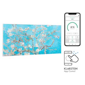 Wonderwall Air Art Smart, infračervený ohrievač, 120 x 60 cm, 700 W, aplikácia, mandľový kvet
