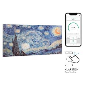 Wonderwall Air Art Smart Infrarotheizung 120x60cm 700W Wandinstallation App-Steuerung Sternennacht