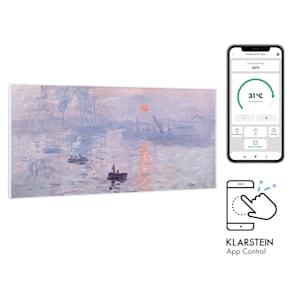 Wonderwall Air Art Smart, grzejnik na podczerwień, 120x60cm, 700 W, app wschód słońca