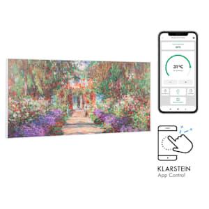 Klarstein Wonderwall Air Art Smart, infrardeči grelec, 120 x 60 cm, 700 W, aplikácia, vrtna pot