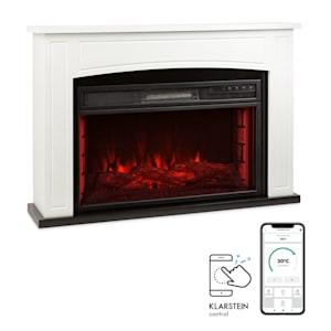 Lucerne Smart, elektromos kandalló, 1000/2000 W, LED, 18 - 27 ° C, heti időzítő, fehér