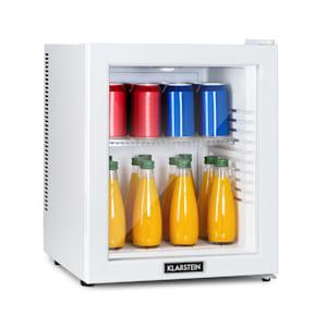 Brooklyn 32 White, mini chladnička, energetická třída A, skleněné dveře, LED, police, bílá