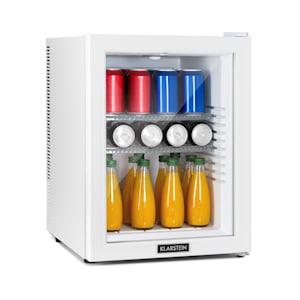 Brooklyn 42 White, mini chladnička, energetická trieda A, sklenené dvere, LED, polica, biela