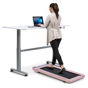 Workspace Go tapis de course, 350 W, 0,8 - 6 km/h, hauteur 11 cm, or rose