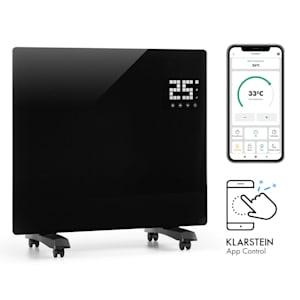 Bornholm Single Smart Konvektionsheizgerät | LED-Display |  Touch-Display | Timer | App-Steuerung | 2 Heizstufen 500 & 1000 Watt | Thermostat 5 - 45°C |  Eco-Modus | Temperaturanzeige | Stand- oder Wandgerät