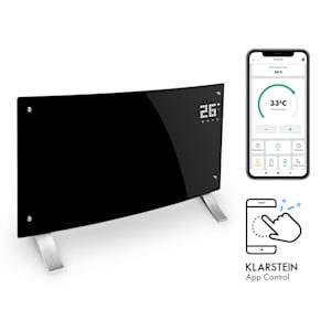 Klarstein Bornholm Curved Smart konvektionselement 2000W app-kontroll svart