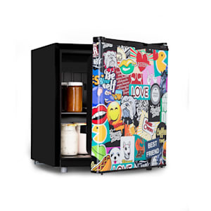 Cool Vibe 48+, hűtőszekrény, A +, 48 liter, VividArt Concept, stickerbomb stílus