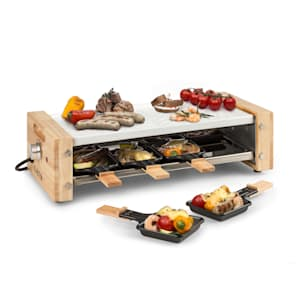Chateaubriand Nuovo, grill raclette, 1200 W, aluminium, na 8 osób, zdobienie drewniane