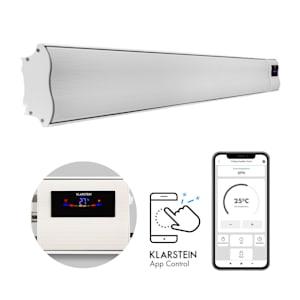 Klarstein Cosmic Beam Smart 30, infračervený ohrievač, 3000 W, ovládanie cez aplikáciu, biely