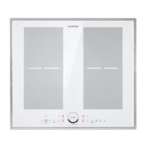 Delicatessa 60 Prime, Piano Cottura a Induzione, 4 Zone, 7000W, bianco