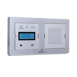 auna DigiPlug UP Unterputz-Radio DAB+/FM BT LC-Display