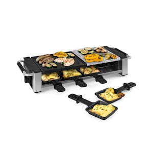 Bistecca Raclette 1200W, métal/pierre, 8 personnes, témoin LED