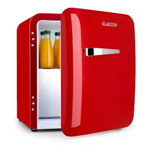 Audrey, mini hűtőszekrény, EEC A +, fagyasztó, LED, piros
